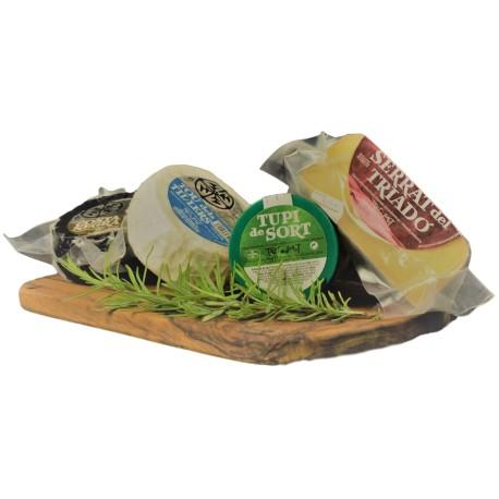 canasta selección quesos artesanales